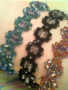 Step by step bracelet crystals and beads.