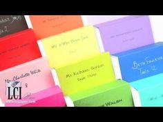 colorful pop tone place cards
