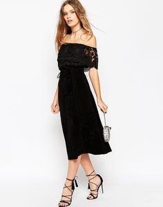 Image 1 of ASOS Suede Midi Skirt With Heavy Stitching And Tie Front