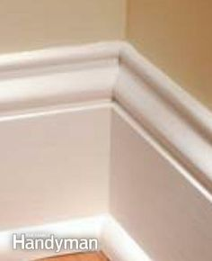 FLOOR MOLDING | Perfect Trim on Doors, Windows and Base Moldings: The Family Handyman