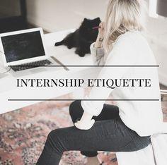 Internship Etiquette | alyssajfreitas.blogspot.com