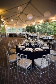 Carlyle House in Alexandria, Virginia - Andrew Reilly Photography - navy and silver - Bellwether Events