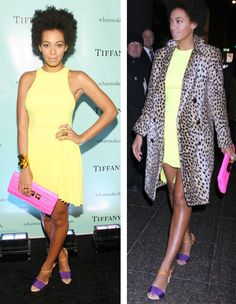 Best Dressed: Solange Knowles in a Christopher Kane dress and a By Malene Birger coat.