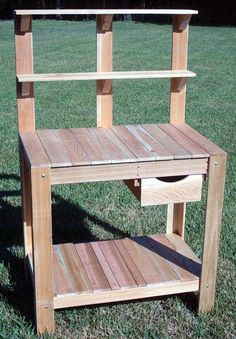 Found it at Wayfair - Potting Bench Potting Bench With Sink, Planter Bench, Potting Tables, Planters, Wood Shop Projects, Diy Furniture Projects, Garden Furniture, Garden Shelves, Plant Shelves