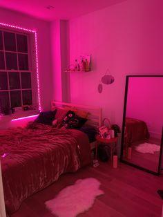 Neon Bedroom, Room Design Bedroom, Cute Bedroom Decor, Teen Room Decor, Stylish Bedroom, Room Ideas Bedroom, Bedroom Inspo, Chill Room, Cozy Room