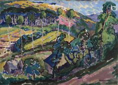 """At the Salon d'Automne in 1911, Emily Carr's work was exhibited in the company of paintings by Marcel Duchamp, Fernand Léger, and Henri Matisse. """"Brittany Landscape,"""" 1911, private collection."""