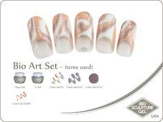 Pucci art set Bio Sculpture Gel, Sculpture Art, Colorful Nail Designs, Nail Art Designs, Usa Nails, Bio Art, Nail Colors, Colours, Gel Nail Art
