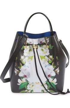 Ted Baker London 'Forget Me Not' Leather Bucket Bag available at #Nordstrom