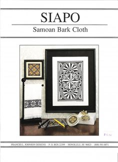 Samoan tapa cross stitch pattern. Woah!