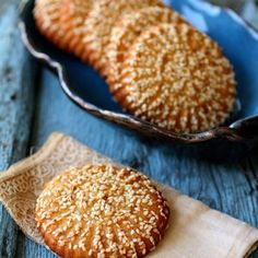 Abbas cookies (Kaak al-Abbas) - Taste of Beirut Arabic Dessert, Arabic Sweets, Arabic Food, Lebanese Desserts, Lebanese Recipes, Kaak Bread Recipe, Sweets Recipes, Cookie Recipes, Sesame Recipes