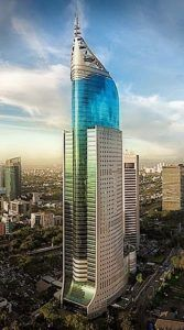 Architecture Wisma 46 or BNI City Tower, Jakarta, Indonesia by DP Architects and Zeidler Partnership Architects 46 floors, height Architecture Design, Architecture Antique, Plans Architecture, Futuristic Architecture, Beautiful Architecture, Contemporary Architecture, Landscape Architecture, Contemporary Design, Architecture Student