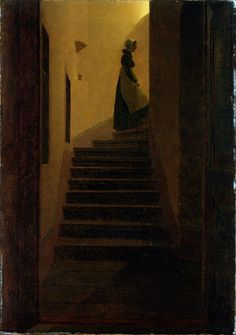 Caspar David Friedrich (b.1774, d.1840), Woman on the Stairs
