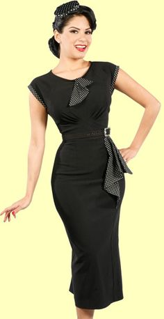 Stop Staring 40's inspired black dress