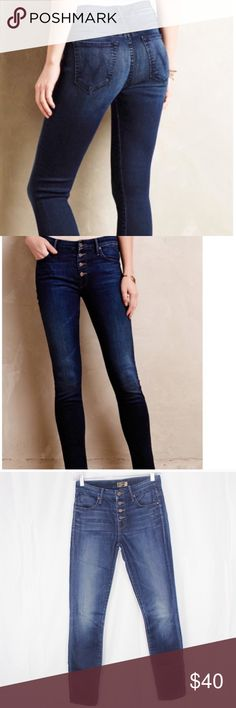7b5db05c009 Shop Women's MOTHER Blue size 25 Skinny at a discounted price at Poshmark.  Description: Mother The Pixie Skinny Jeans Damaged!