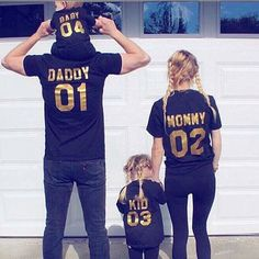 Couple T-Shirt Daddy Mommy Baby Kid Love Matching Shirts Family Clothes Tee Tops | eBay