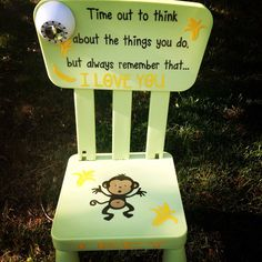 Monkey time out chair- toddler trouble