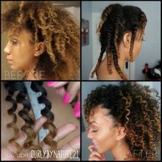 How To Get Perfect 3 Strand Twist Out Results on Natural Hair. When Matt did Kelsey's hair. :) Only Kelsey had many more twists.