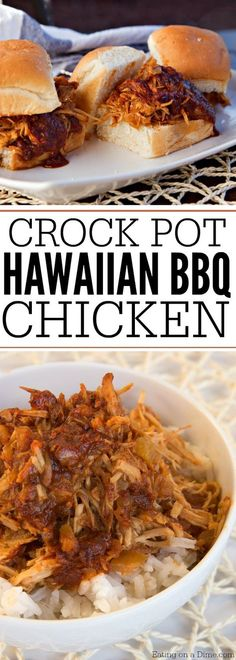 The best hawaiian chicken recipe. You are going to love this quick and easy hawaiian crockpot chicken. Make this crock pot hawaiian bbq chicken recipe today