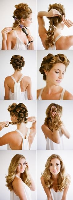 romantic curls tutorial- looks too perfect- there's no way mine would look like that!