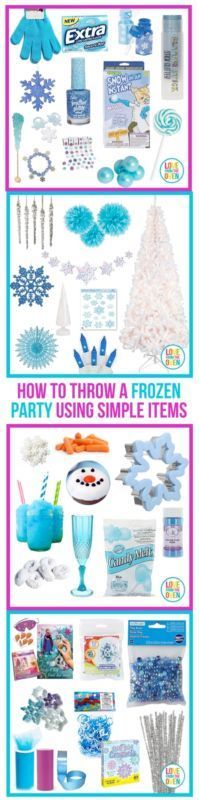 I'm sharing my tips and tricks for throwing a fabulous Frozen party.  You don't have to buy a bunch of licensed items, it's amazing what you can pick up in the winter and holiday decor sections.  If you are throwing a Frozen party this year, pin this, you'll be glad you did, ideas for decor, favors, food and activities.: