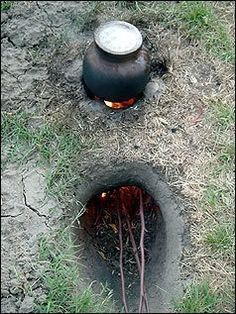 Dakota Fire Hole: Saves Wood, Burns HOT, Minimal Smoke & Efficient Cooking - Outdoor End