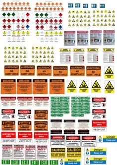 Warning, caution posters and signals Terrain 40k, Wargaming Terrain, Modele Lego, Vitrine Miniature, Modeling Techniques, Mini Craft, Free To Use Images, Military Diorama, Train Layouts