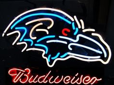 """NFL BALTIMORE RAVENS BUDWEISER BEER BAR CLUB NEON LIGHT SIGN (16"""" X 14"""") - Free Shipping Worldwide  ~ Voltage: 100-240v UL Transformers from NeonPro - Workable in all countries - US, UK, Canada, Japan, Australia, European Countries, & Others.  ~ Payment: Paypal / Credit Cards / Western Union.  ~ Delivery Time: 9-15 days to USA/Canada/Japan/Australia/Asian Countries; 12-18 days to European Countries/South American Countries; via a USPS/Hongkongpost/Canadapost tracking number, directly shipped…"""