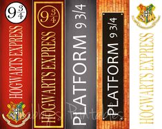 Printable Bookmarks - Harry Potter - Platform 9 3/4 - Hogwarts Express Instant Download by GabbysPrintables on Etsy https://www.etsy.com/listing/223120924/printable-bookmarks-harry-potter