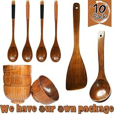 Includes: Wooden spatula, soup spoon, spoon(4) and bowl(4) .Each one of products is carefully polished by craftsmen, therefore every product has its unique color, texture, weight and specification. Octosuite Syndication Bundle OCTOSUITE allows you to replace the need for a social media manager... see more details at https://bestselleroutlets.com/home-kitchen/kitchen-dining/dining-entertaining/dinnerware-sets/product-review-for-hizbo-mart-10-piece-handmade-wooden-tableware-set
