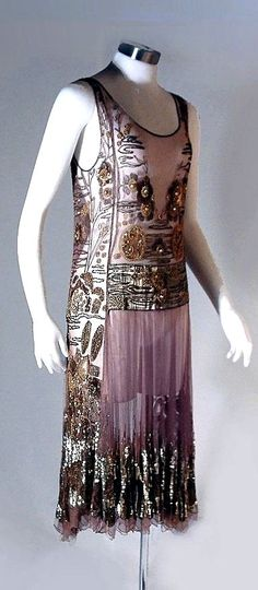 Lovely beaded dress from the 1920s.