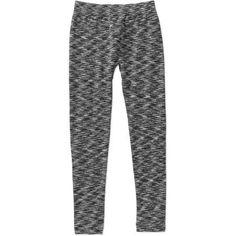 One Step Up Girls' legging Got It Fleece-lined Space Dye Seamless Leggings, Size: 4-6X, Black
