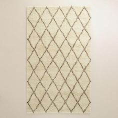 Ivory Moroccan-Style Shag Rug | World Market 8x10 $599.99