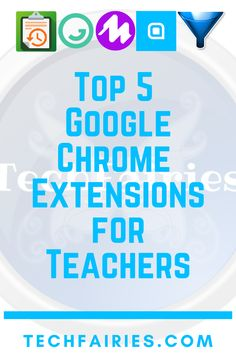 Read about my 5 favorite Google Chrome Extensions for teachers. Read the entire blog post on Techfairies.com or watch the video on my YouTube Channel: TechFairies.   #googlechrome #chromeextensions #extensions Educational Websites, Educational Technology, Learning Tools, Learning Resources, Chrome Extensions, Reward System, Google Chrome, Google Classroom, Classroom Management