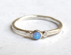 Hey, I found this really awesome Etsy listing at https://www.etsy.com/listing/123634497/stacking-ring-engagement-ring-blue-opal