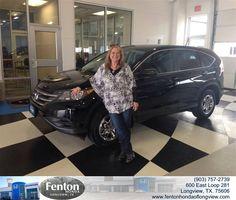 #HappyAnniversary to Delilah Adams on your 2014 #Honda #Cr-V from Everyone at Fenton Honda of Longview!