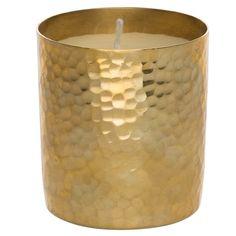 Amina Candle 8cm  Gold Colour