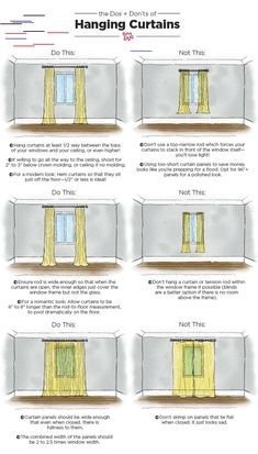 look for heavier drapes amassed behind sheers across the window to maintain privacy, but not block the open entirely. Family room curtains have many alternating uses, including trapping heat, blocking Hanging Curtains, Panel Curtains, Curtain Panels, Blackout Curtains, Apartment Living, Apartment Therapy, Apartment Ideas, Apartment Interior, Apartment Design