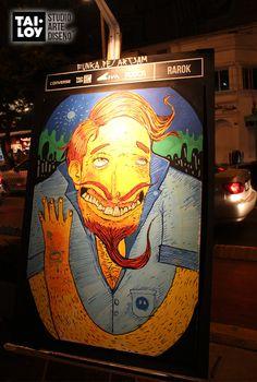 Tai Loy #StudodeArteyDiseño presenta Lienzos Urbanos : Exhibición de obras del Art Jam 2013 - 2014