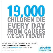 UNICEF supports children from deadly causes.