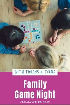 There are a ton of great board games for teenagers available that are loads of fun and extremely educational. Older kids love to play games, so make sure you're having regular family game nights with your tweens Tween Games, Games For Teens, Family Game Night, Family Games, Educational Board Games, Games To Play With Kids, Fun Board Games, Math Facts, Teenagers