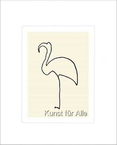 Pablo Picasso: The flamingo. Pablo Picasso, Barbed Wire Art, Flamingo Tattoo, Cubist Movement, Spanish Painters, Free Motion Quilting, Picture Frames, Sculpture, Fine Art