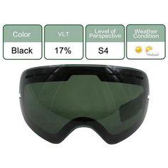d2f4385bdb1 UV400 Ski Goggles Lens Skiing Glasses Anti-fog Brightening Lens For Weak  Light Cloudy For