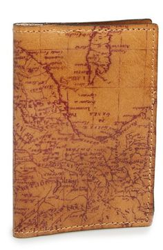 Vintage Map Leather Passport Holder Talk about the perfect gift for the groom/groomsmen!