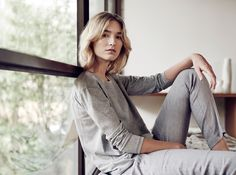 Weekend Luxe: Neutral pieces in light grey marle can be easily paired back to casual separates.