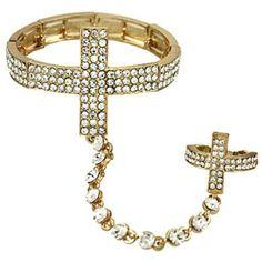 Hand Chain / Slave Bracelet / Bracelet&Ring Set / AZFJSB073-GCL Arras Creations http://www.amazon.com/dp/B00IPBHWKW/ref=cm_sw_r_pi_dp_RfOTub1FAGBVT