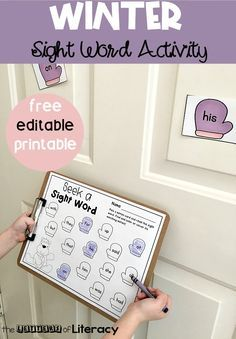 This Winter Editable Sight Word Activity for Pre-K and Kindergarten is a free printable, perfect for a literacy center this winter! #sightwords #literacycenter #freeprintable #winter #kindergarten #firstgrade