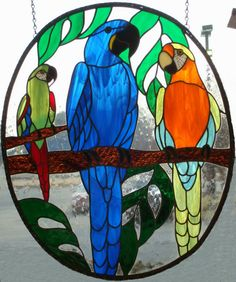 Glass Gallery Stained Glass - Parrots and Stained Glass, two of my favorite colorful things to be found in this world. :)