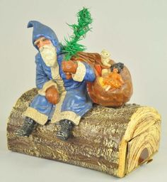 Antique Christmas, Christmas Past, Vintage Christmas Ornaments, Father Christmas, Blue Christmas, Christmas Items, Little Christmas, Christmas Candy, Christmas Decorations