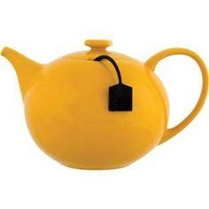 Théière en porcelaine 1,5l +infuseur à thé Jaune MY TEA Declikdeco SALT & PEPPER