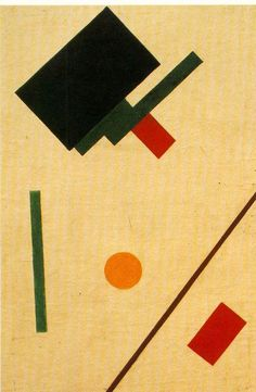 Kazimir Malevich, Suprematist Composition, 1915 -ABSTRACT